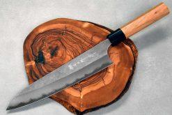 """סכין שף (גיוטו) הירושי קאטו 210מ""""מ Aogami Super"""
