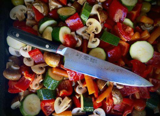 """סכין שף (גיוטו) קאנצ'וגו 200מ""""מ VG10 דמשק"""