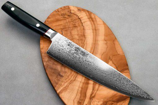 """סכין שף (גיוטו) קאנצ'וגו 230מ""""מ VG10 דמשק"""