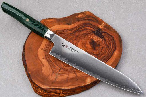 """סכין שף (גיוטו) זאנמאי 210מ""""מ ירוק SG2"""