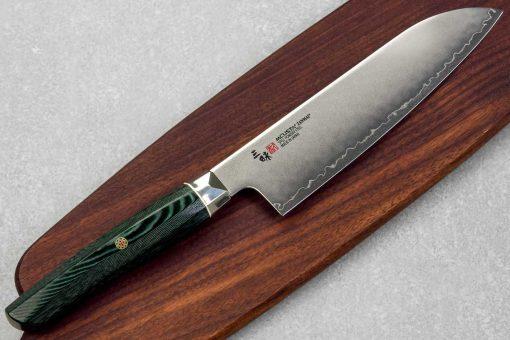 """סכין סנטוקו זאנמאי 180מ""""מ ירוק SG2"""