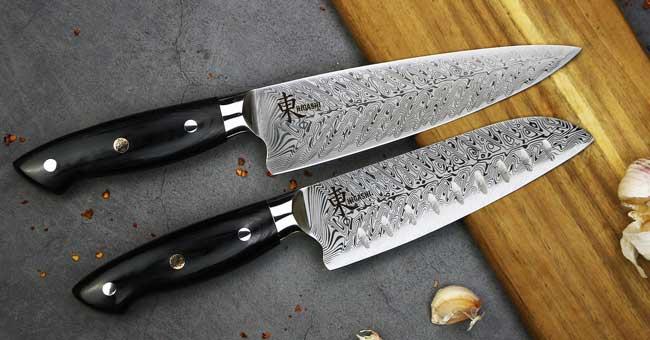 סכיני שף מבית היגאשי סדרת לייזר