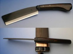 AZSYU Shirogami Hachet 165mm (abt 6.5 Inch), Double Bevel 3