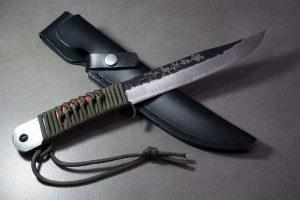 """סכין שטח אזומה סיוסאקו 165מ""""מ Aogami#2 1"""