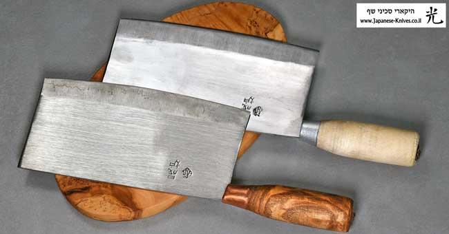 סכיני מטבח סיניים מסורתיים בעבודת יד של האו ג'יינג