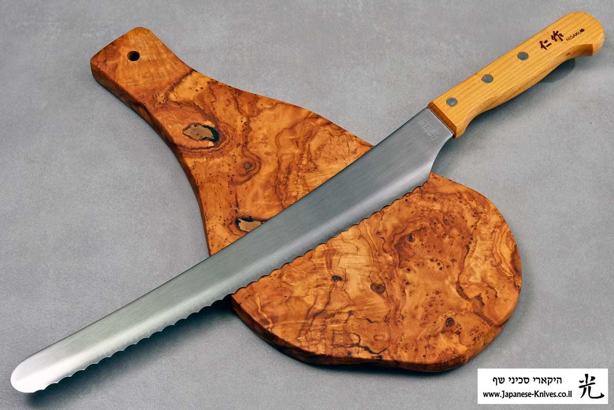 """סכין לחם היקארי 300מ""""מ"""
