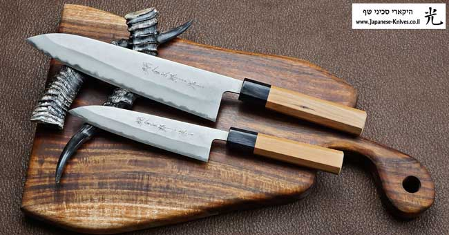 סכיני שף בעבודת יד של הירושי קאטו - סדרת Aogami super