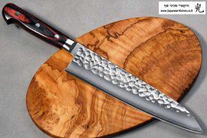 """סכין שף (גיוטו) הירושי קאטו 210מ""""מ SG2 מרוקע"""