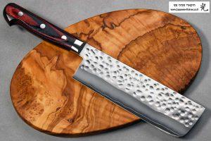 """סכין ירקות (נקירי) הירושי קאטו 165מ""""מ SG2 מרוקע"""