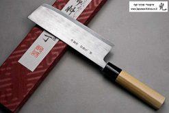 """סכין ירקות (נקירי) מיצ'יו אישיקאווה 165מ""""מ Aogami#2"""