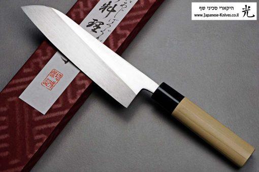 """סכין שף (סנטוקו) מיצ'יו אישיקאווה 165מ""""מ Aogami#2"""