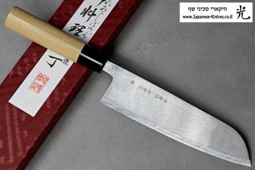 """סכין שף (סנטוקו) מיצ'יו אישיקאווה 180מ""""מ Aogami#2"""