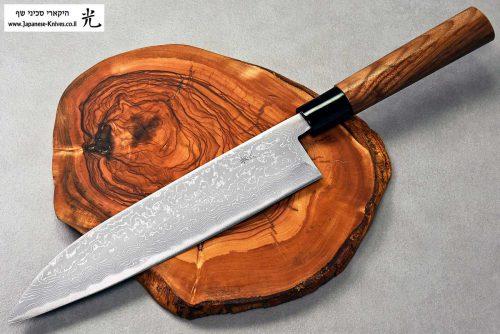 """סכין שף (גיוטו) קאג'יווארה 210מ""""מ Aogami#2"""