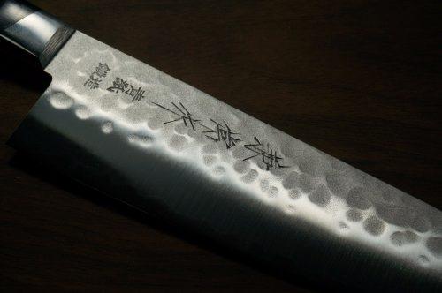 """סכין שף (סנטוקו) קאנצון 180מ""""מ Aogami#2 1 2"""