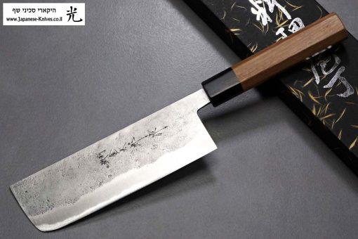 """סכין ירקות (נקירי) הירושי קאטו 165מ""""מ Aogami Super"""
