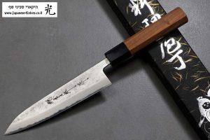 """סכין טבח (פטי) הירושי קאטו 150מ""""מ Aogami Super"""