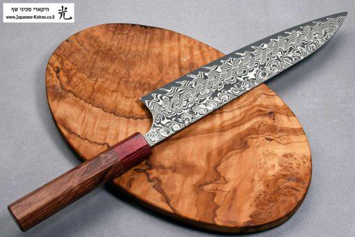 """סכין שף (גיוטו) הירושי קאטו 210מ""""מ SG2 דמשק"""