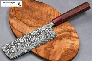 """סכין ירקות (נקירי) הירושי קאטו 165מ""""מ SG2 דמשק"""