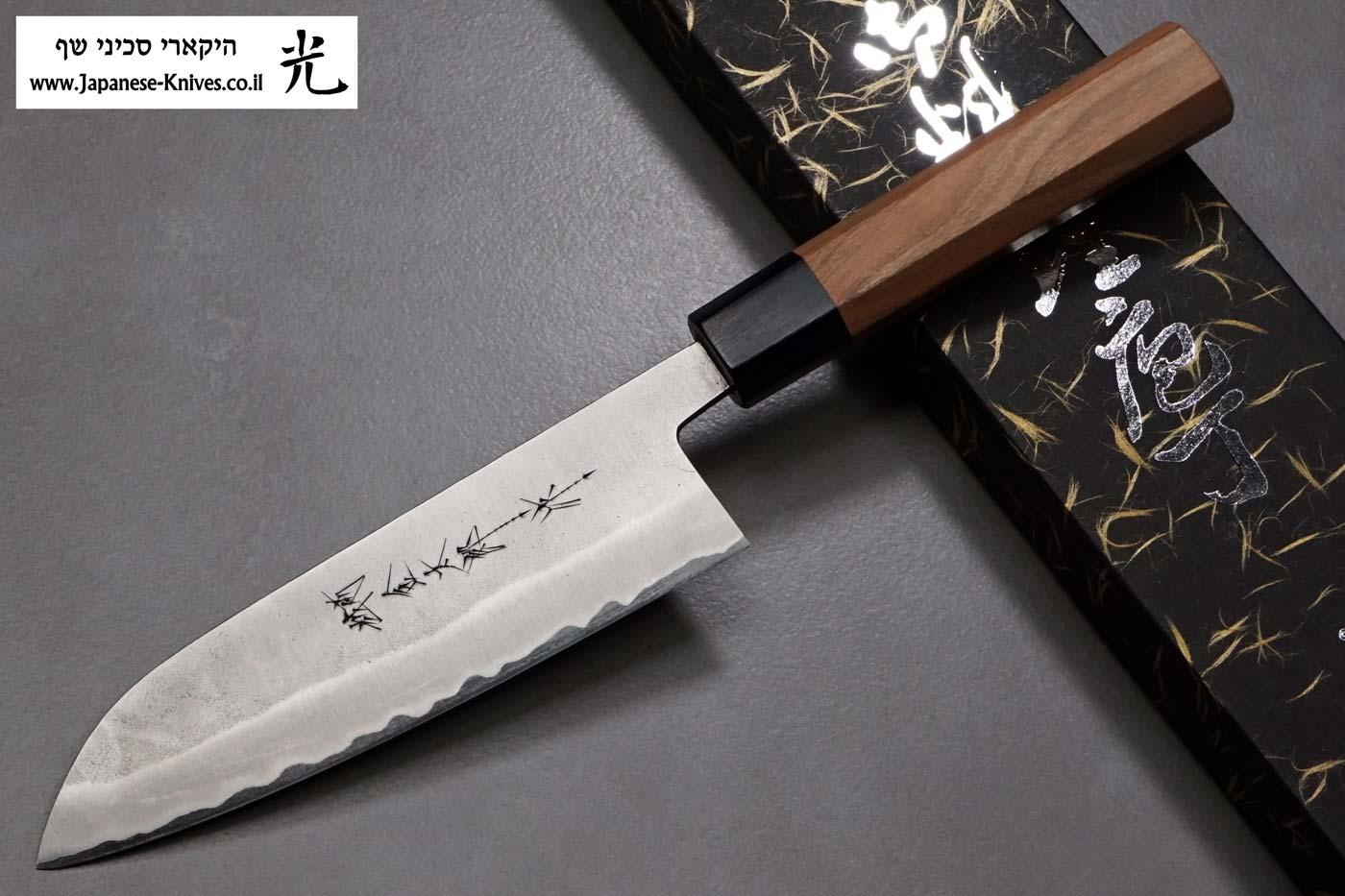 """סכין שף (סנטוקו) הירושי קאטו 170מ""""מ Aogami Super"""