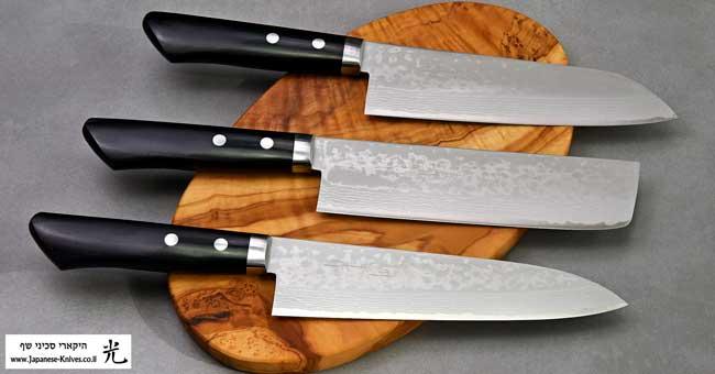 סכיני שף יפניים מבית מסוטאני - פלדת דמשק VG10