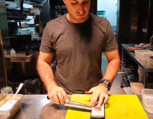 סדנאות השחזת סכינים לקבוצות או מסעדות