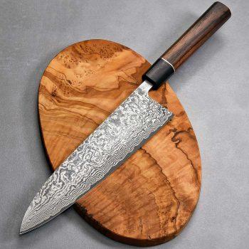 """סכין שף (גיוטו) שירו קאמו 210מ""""מ SG2 Ad 1:1"""
