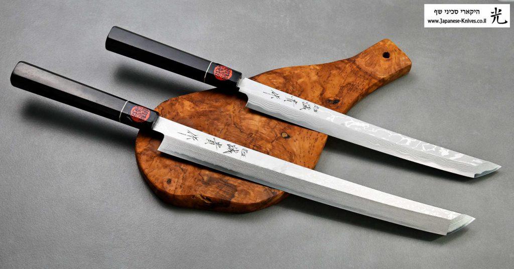 סכינים יפניים מסורתיים מבית קאזויוקי מסוג טאקוהיקי סאקי-מארו