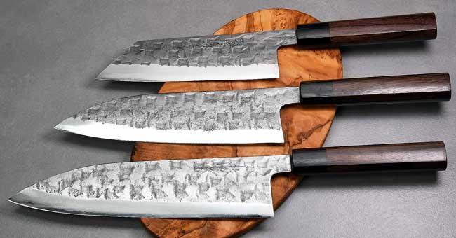 סכיני שף בעבודת יד של טאנאקה קצ'וטו - סדרת Aogami#2