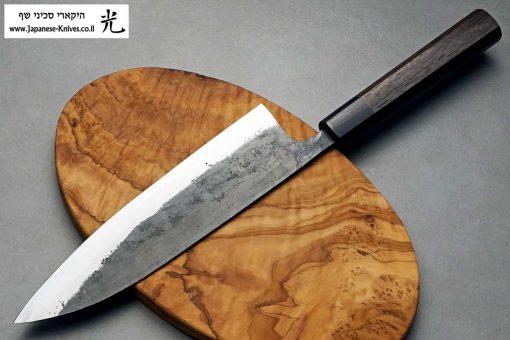 """סכין שף (גיוטו) טאנאקה קצ'וטו 210מ""""מ Shirogami#1"""
