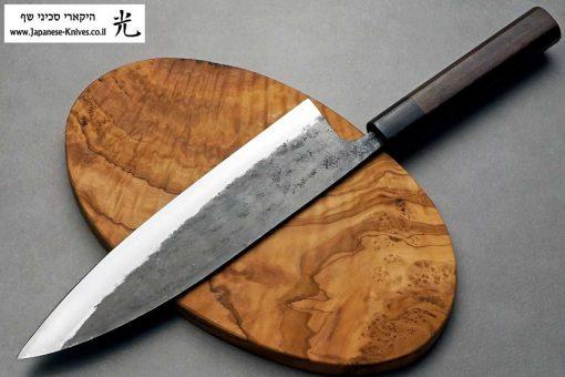 """סכין שף (גיוטו) טאנאקה קצ'וטו 240מ""""מ Shirogami#1"""