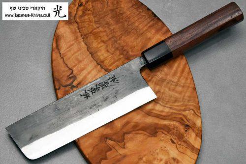 """סכין ירקות (נקירי) טאנאקה קצ'וטו 165מ""""מ Shirogami#1"""