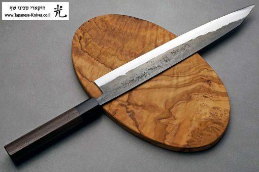 """סכין פריסה (שוג'יהיקי) טאנאקה קצ'וטו 270מ""""מ Shirogami#1"""
