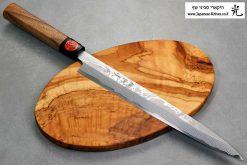 """סכין סושי (יאנאגיבה) קאזויוקי 270מ""""מ Aogami#2 Damascus"""