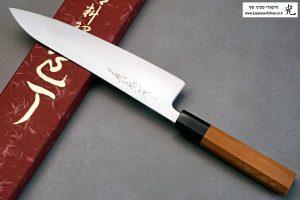 """סכין שף (גיוטו) יאמאוואקי 210מ""""מ Aogami Super"""