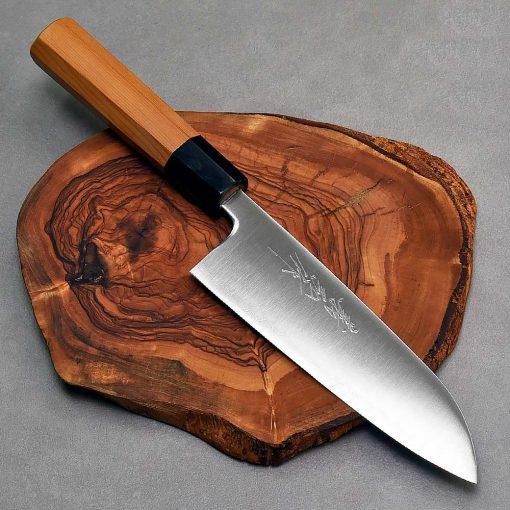 """סכין שף (סנטוקו) יאמאוואקי 165מ""""מ Aogami Super FB ad 1:1"""