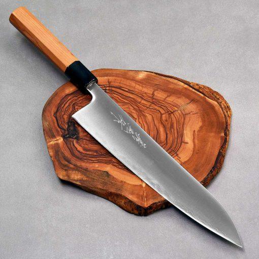 """סכין שף (גיוטו) יאמאוואקי 240מ""""מ Aogami Super FB ad 1:1"""