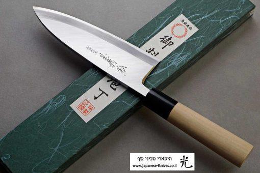 """סכין פילוט דגים (דבה) יאמאוואקי 165מ""""מ Shirogami#2"""