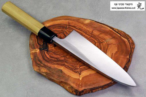 """סכין פילוט דגים (דבה) יאמאוואקי 180מ""""מ Aogami#2"""