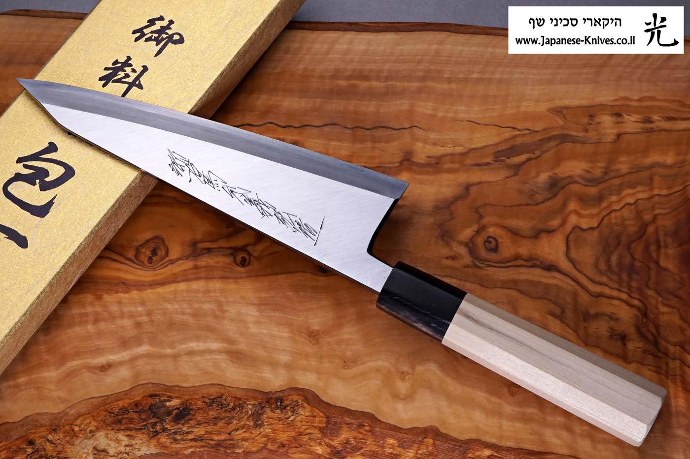 """סכין פירוק בשר (גאראסוקי) יאמאוואקי 180מ""""מ Aogami#2"""