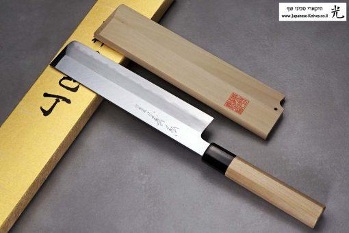 """סכין ירקות יוסובה (Edo Usuba) יאמאוואקי 210מ""""מ Shirogami#2"""