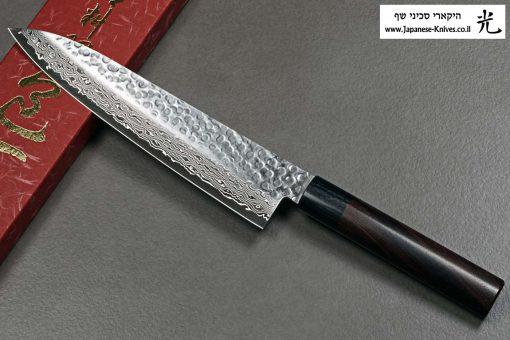 """סכין שף (גיוטו) יאמאוואקי 210מ""""מ VG10 ידית יפנית"""