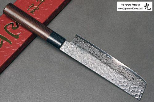 """סכין ירקות (נקירי) יאמאוואקי 165מ""""מ VG10 ידית יפנית 1"""