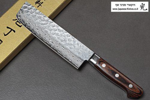 """סכין ירקות (נקירי) יאמאוואקי 165מ""""מ VG10 ידית מערבית"""