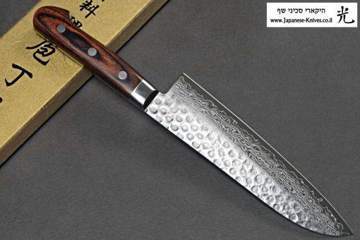 """סכין שף (סנטוקו) יאמאוואקי 180מ""""מ VG10 ידית מערבית"""