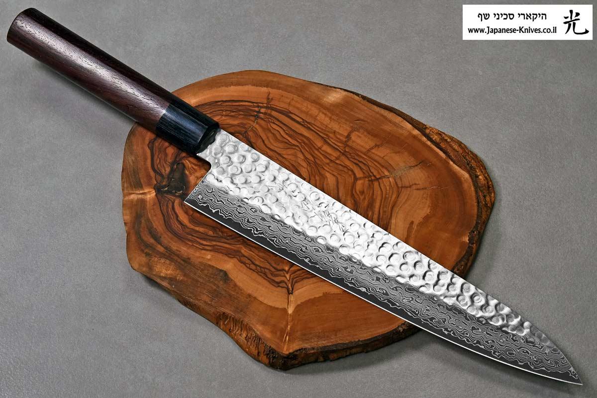 """סכין שף (גיוטו) יאמאוואקי 240מ""""מ VG10 ידית יפנית"""