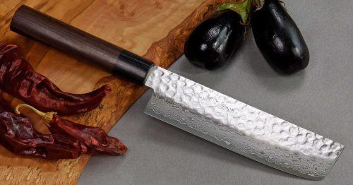"""סכין ירקות (נקירי) יאמאוואקי 165מ""""מ VG10 ידית יפנית FB ad"""