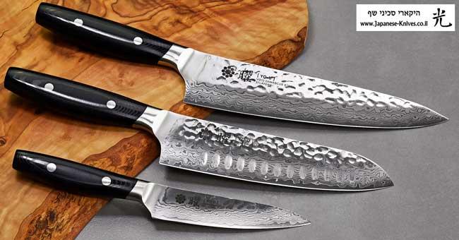 סכיני שף מבית יקסל Yaxell - פלדת VG10 L37