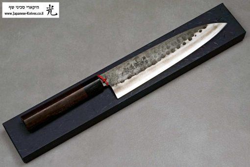 """סכין שף (גיוטו) יושידה 210מ""""מ ZDP-189 שחור"""