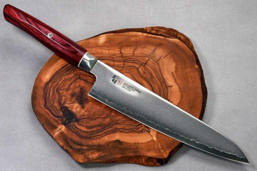 """סכין שף (גיוטו) זאנמאי 210מ""""מ אדום SG2"""