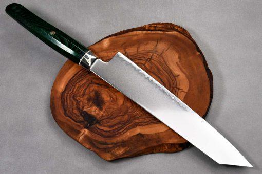 """סכין שף (קיריצ'וקא) זאנמאי 230מ""""מ ירוק SG2"""